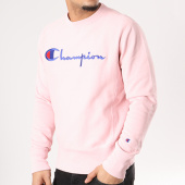 /achat-sweats-col-rond-crewneck/champion-sweat-crewneck-210975-rose-129630.html