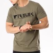 /achat-t-shirts/firelek-tee-shirt-logo-feutrine-vert-kaki-130081.html