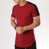/achat-t-shirts-longs-oversize/john-h-tee-shirt-oversize-1811-bordeaux-noir-130254.html
