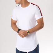 /achat-t-shirts-longs-oversize/john-h-tee-shirt-oversize-avec-bandes-1803-blanc-130328.html