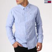 /achat-chemises-manches-longues/tommy-hilfiger-jeans-chemise-manches-longues-tjm-original-end-on-end-4406-bleu-clair-130502.html