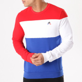 /achat-sweats-col-rond-crewneck/le-coq-sportif-sweat-crewneck-n1-1810451-bleu-marine-blanc-rouge-131337.html
