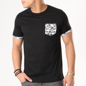 /achat-t-shirts-poche/brave-soul-tee-shirt-poche-vine-noir-blanc-floral-131391.html