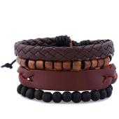 /achat-bracelets/california-jewels-lot-de-4-bracelets-mingle-noir-marron-131650.html