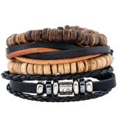 /achat-bracelets/california-jewels-lot-de-4-bracelets-mix-noir-marron-131785.html