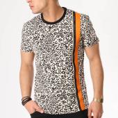 /achat-t-shirts/versace-jeans-tee-shirt-bande-brodee-rum607-ecru-noir-orange-leopard-131871.html