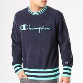 /achat-sweats-col-rond-crewneck/champion-sweat-crewneck-211685-bleu-marine-vert-132277.html