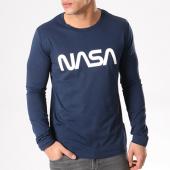 /achat-t-shirts-manches-longues/nasa-tee-shirt-manches-longues-worm-logo-bleu-marine-132315.html