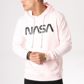 /achat-sweats-capuche/nasa-sweat-capuche-worm-logo-rose-noir-132369.html