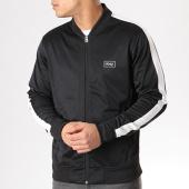 /achat-vestes/obey-veste-zippee-avec-bande-borstal-noir-blanc-132591.html