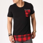 /achat-t-shirts-longs-oversize/vip-clothing-tee-shirt-poche-oversize-1750-noir-rouge-133126.html