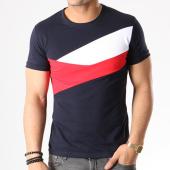 /achat-t-shirts/aarhon-tee-shirt-tricolore-18-019-bleu-marine-blanc-rouge-133422.html