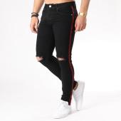 /achat-jeans/aarhon-jean-slim-troue-avec-bandes-a71-noir-133435.html