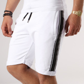 /achat-shorts-jogging/lbo-short-jogging-avec-bandes-388-blanc-noir-133472.html