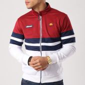 /achat-vestes/ellesse-veste-zippee-bandes-brodees-1032n-bordeaux-bleu-marine-blanc-133706.html