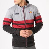 /achat-vestes/ellesse-veste-zippee-bandes-brodees-1032n-gris-anthracite-noir-bordeaux-133708.html