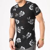 /achat-t-shirts-longs-oversize/john-h-tee-shirt-oversize-1858-noir-floral-133729.html