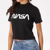 /achat-t-shirts/nasa-tee-shirt-crop-femme-worm-logo-noir-133629.html