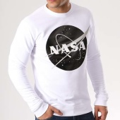 /achat-sweats-col-rond-crewneck/nasa-sweat-crewneck-insignia-front-desaturate-blanc-133642.html