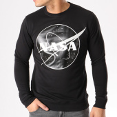 /achat-sweats-col-rond-crewneck/nasa-sweat-crewneck-insignia-front-desaturate-noir-133645.html