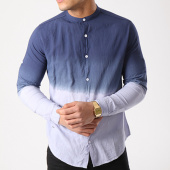 /achat-chemises-manches-longues/paname-brothers-chemise-manches-longues-ciota-bleu-marine-degrade-133682.html