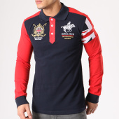/achat-polos-manches-longues/geographical-norway-polo-manches-longues-patchs-brodes-koduk-bleu-marine-rouge-134111.html