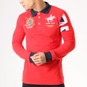 /achat-polos-manches-longues/geographical-norway-polo-manches-longues-patchs-brodes-koduk-rouge-bleu-marine-134115.html
