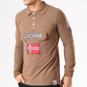 /achat-polos-manches-longues/geographical-norway-polo-manches-longues-patchs-brodes-kiclass-marron-134121.html