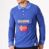 /achat-polos-manches-longues/geographical-norway-polo-manches-longues-patchs-brodes-kiclass-bleu-roi-134129.html