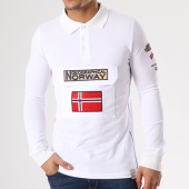 /achat-polos-manches-longues/geographical-norway-polo-manches-longues-patchs-brodes-kiclass-blanc-134140.html