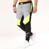 /achat-pantalons-joggings/unkut-pantalon-jogging-done-noir-gris-chine-jaune-fluo-134101.html