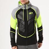 /achat-sweats-zippes-capuche/unkut-sweat-zippe-capuche-done-noir-gris-chine-jaune-fluo-134103.html