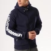 /achat-sweats-zippes-capuche/us-marshall-sweat-zippe-capuche-gupershall-bleu-marine-134265.html
