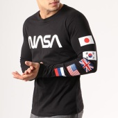 /achat-t-shirts-manches-longues/nasa-tee-shirt-manches-longues-flags-noir-134601.html