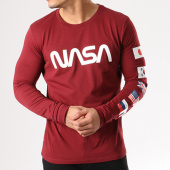 /achat-t-shirts-manches-longues/nasa-tee-shirt-manches-longues-flags-bordeaux-134607.html