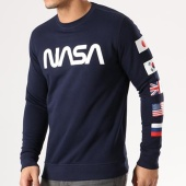 /achat-sweats-col-rond-crewneck/nasa-sweat-crewneck-flags-bleu-marine-134612.html
