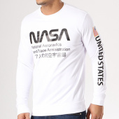 /achat-sweats-col-rond-crewneck/nasa-sweat-crewneck-admin-blanc-134617.html
