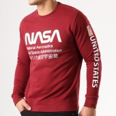 /achat-sweats-col-rond-crewneck/nasa-sweat-crewneck-admin-bordeaux-134620.html