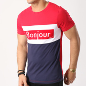 /achat-t-shirts/vald-tee-shirt-bonjour-bleu-marine-blanc-rouge-134445.html