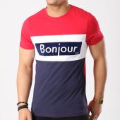 /achat-t-shirts/vald-tee-shirt-bonjour-2-bleu-marine-blanc-rouge-134453.html