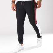 /achat-pantalons-joggings/lbo-pantalon-jogging-poly-415-noir-bandes-blanc-et-bordeaux-134762.html