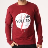 /achat-sweats-col-rond-crewneck/vald-sweat-crewneck-space-vald-bordeaux-134893.html