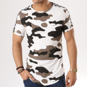 /achat-t-shirts-longs-oversize/john-h-tee-shirt-oversize-bandes-brodees-1875-blanc-marron-camouflage-135011.html