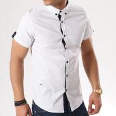 /achat-chemises-manches-courtes/paname-brothers-chemise-manches-courtes-casa-blanc-bleu-marine-135034.html