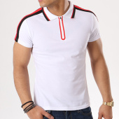 /achat-polos-manches-courtes/zayne-paris-polo-manches-courtes-bandes-brodees-j1015y-blanc-noir-rouge-134902.html