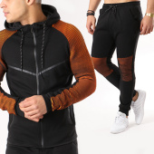 /achat-ensembles-survetement/zayne-paris-ensemble-de-survetement-bl70-noir-orange-135156.html