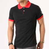 /achat-polos-manches-courtes/aarhon-polo-manches-courtes-aj1849-noir-rouge-135854.html
