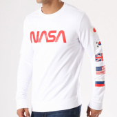 /achat-sweats-col-rond-crewneck/nasa-sweat-crewneck-flags-blanc-rouge-135910.html