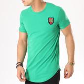 /achat-t-shirts-longs-oversize/classic-series-tee-shirt-oversize-bande-brodee-1204-vert-136073.html