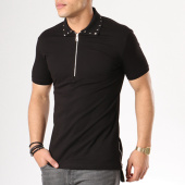 /achat-polos-manches-courtes/ikao-polo-manches-courtes-oversize-f141-noir-136107.html